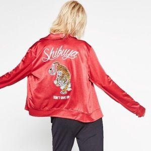"Zara Red Track Jacket ""Shibuya"" Tokyo Japan - S"